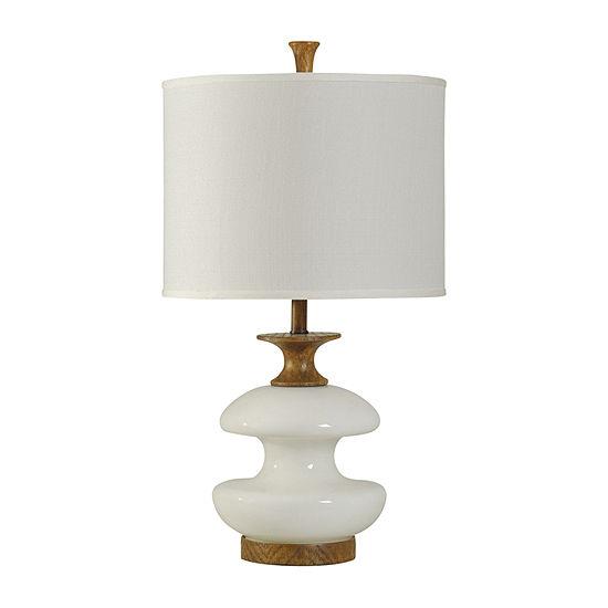 Stylecraft Chevelle 16.5 W White Polyresin Table Lamp