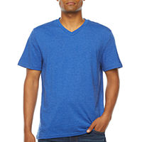 Deals on Arizona Easy Fit Mens V Neck Short Sleeve T-Shirt