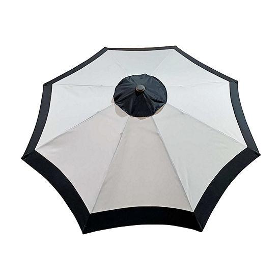 9ft. Two Tone Crank and Tilt Round Patio Umbrella