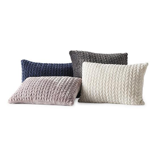 Loom + Forge Chevron Mink Lumbar Throw Pillow