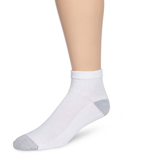 Hanes® Mens 10-pk. Cushioned Foot Quarter Socks