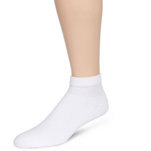 Hanes® Mens 6-Pk. Comfortblend® Full Cushion Quarter Socks + Bonus Pair