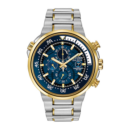 Citizen Endeavor Mens Chronograph Multi-Function Two Tone Stainless Steel Bracelet Watch-Ca0444-50l