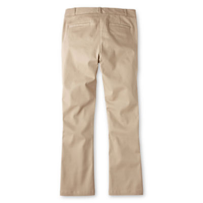 IZOD® Stretch Twill Regular Fit Boot-Cut Pants - Girls 7-16