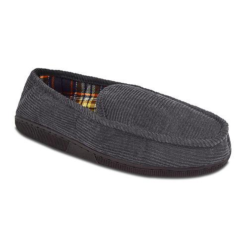 MUK LUKS® Mens Corduroy Moccasin Slippers