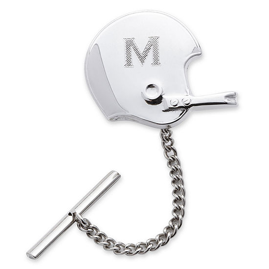 Football Helmet Rhodium-Plated Tie Tack