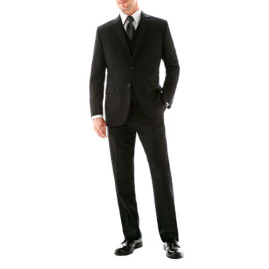 jcpenney.com | Stafford® 100% Wool Super 100's Black Stripe Suit Separates - Classic