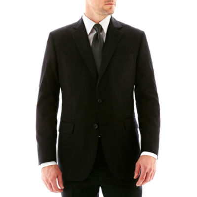 Stafford® Executive Super 100 Wool Black Stripe Suit Jacket - Classic