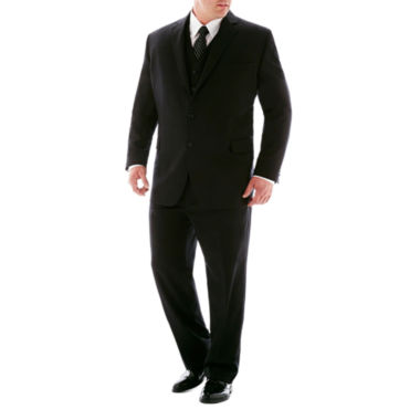 jcpenney.com | Stafford® 100% Wool Super 100 Black Stripe Suit Separates - Big & Tall