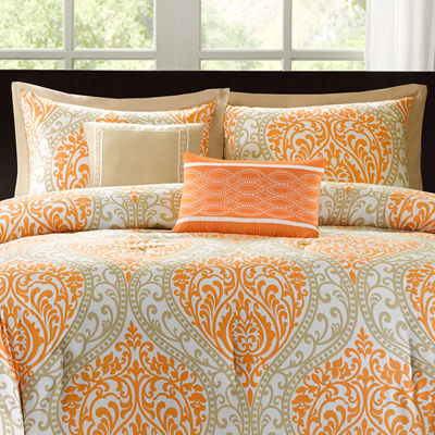 Intelligent Design Sabrina Damask Comforter Set