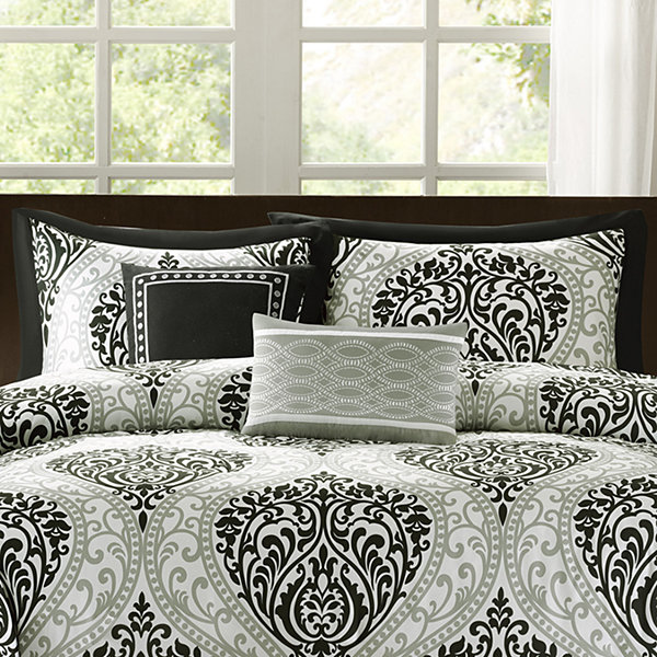 Intelligent Design Sydney Damask Duvet Cover Set