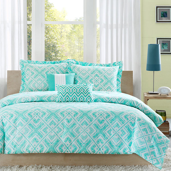 Intelligent Design Natalie Geometric Comforter Set