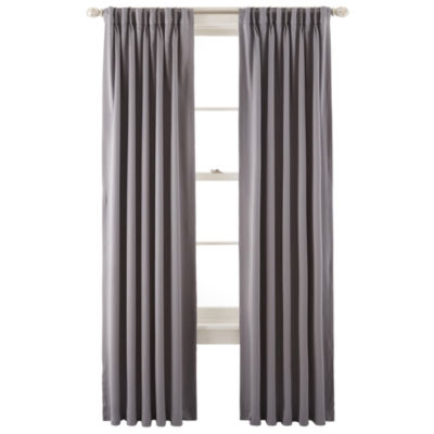 JCPenney HomeTM Kathryn Room Darkening Pinch Pleat Back Tab Curtain Panel