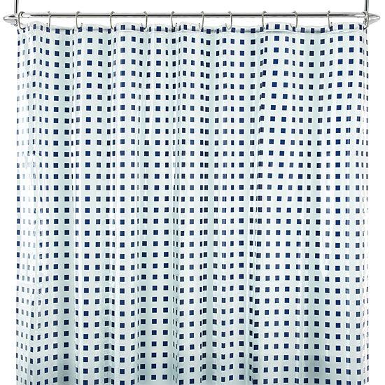 Home Expressions™ Dixon Squares PEVA Shower Curtain