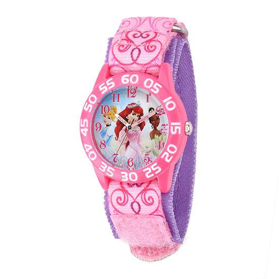 Disney Disney Princess Girls Pink Strap Watch-W001667