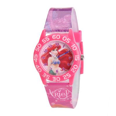 Disney Ariel Kids Time Teacher Print Strap Watch