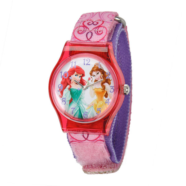 Disney Princess Kids Pink Nylon Fast Strap Watch