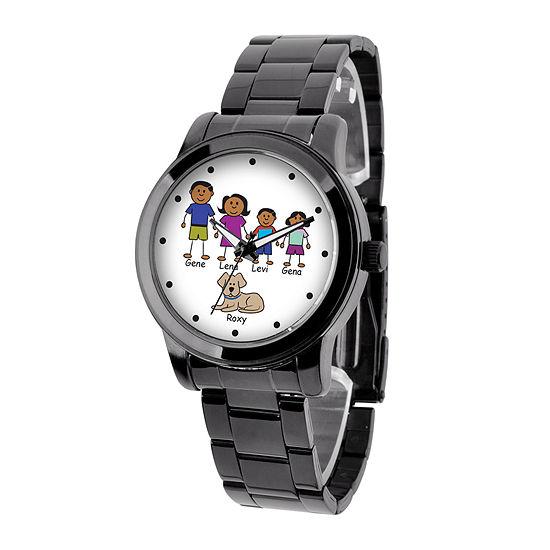 Unisex Adult Black Stainless Steel Bracelet Watch - 41478-B