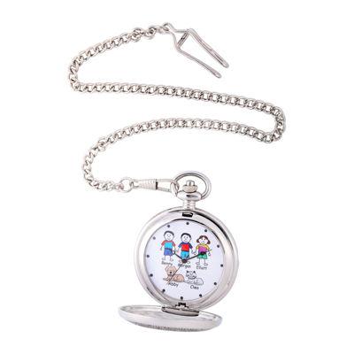 Unisex Silver Tone Bracelet Watch-41477-S