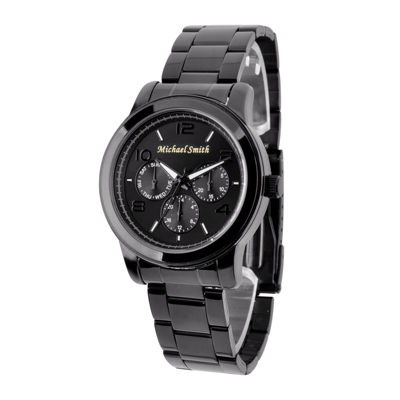 Personalized Dial Black Stainless Steel Watch