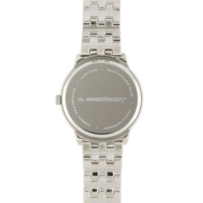 Personalized Dial Womens Silver-Tone Bracelet Watch