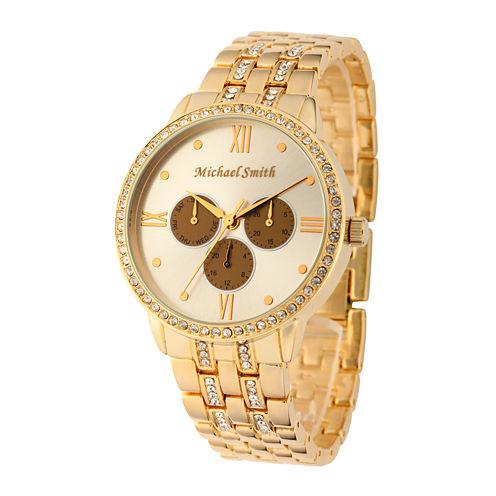 Personalized Dial Womens Gold-Tone Bracelet Watch