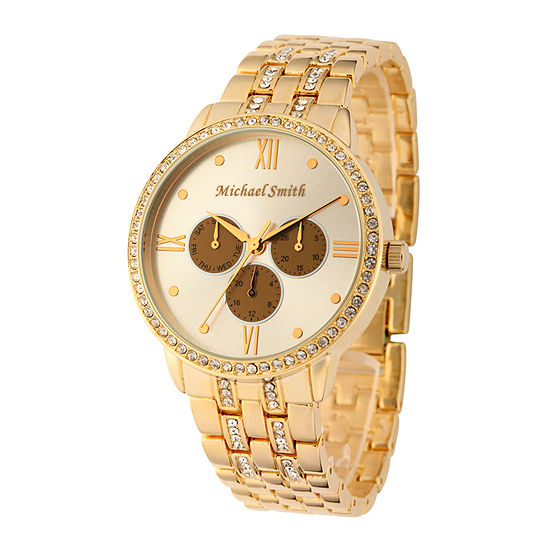 Personalized Dial Womens Gold-Tone Bracelet Watch