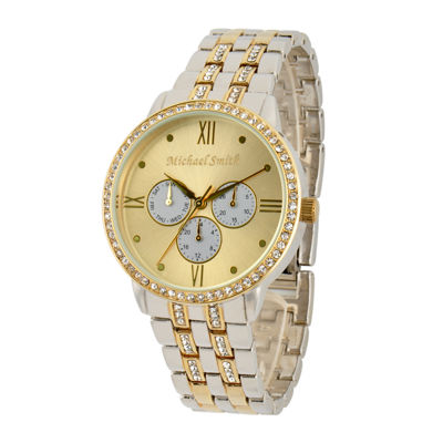 Personalized Dial Womens Two-Tone Bracelet Watch