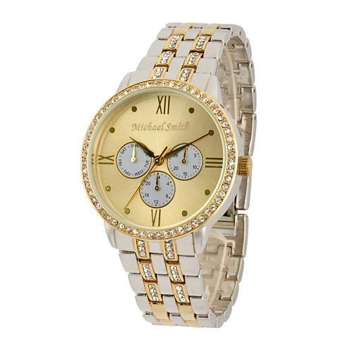 Personalized Dial Womens Two-Tone Bracelet Watch