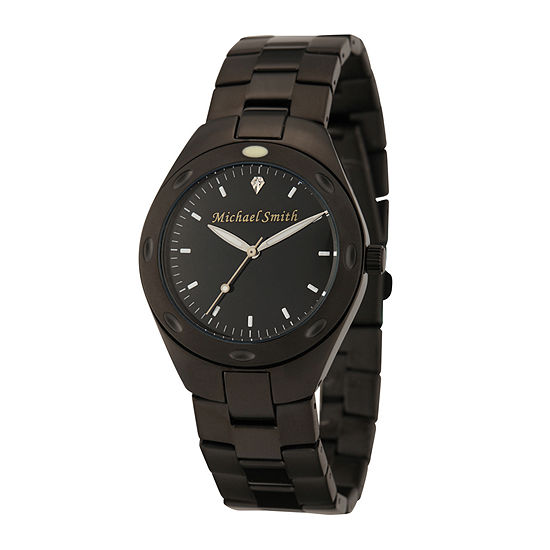 Personalized Dial Mens Black Stainless Steel Watch