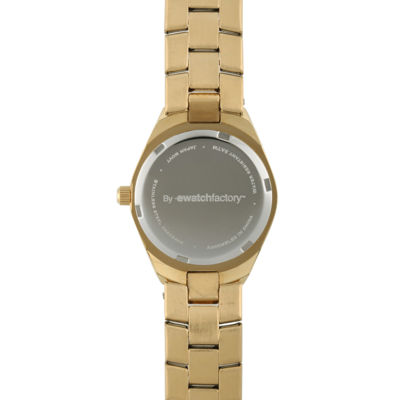 Personalized Dial Womens Gold-Tone Stainless Steel Bracelet Watch