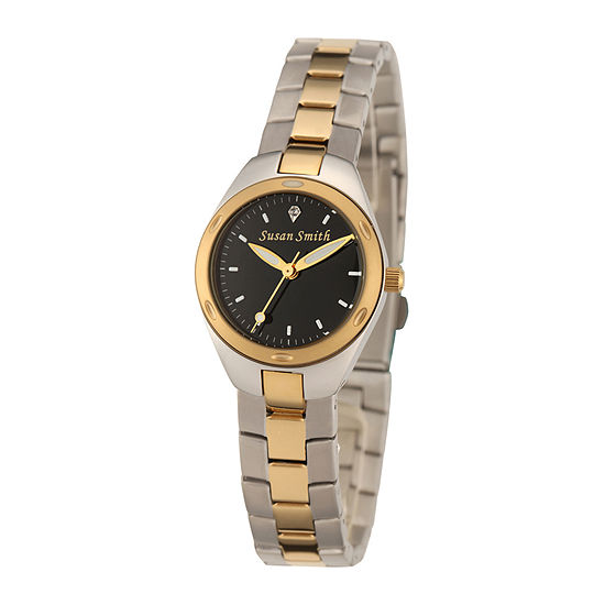 Personalized Dial Womens Two-Tone Stainless Steel Bracelet Watch