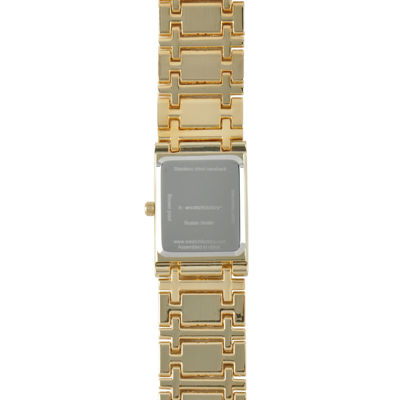 Personalized Womens Diamond-Accent Gold-Tone The Lord's Prayer Bracelet Watch