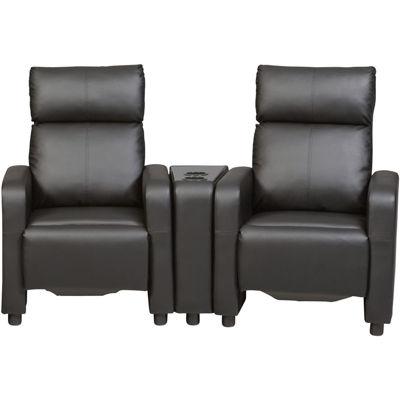 Thomas Faux-Leather 3-pc. Theater Seating Set