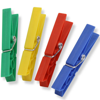 Honey-Can-Do® Colored Plastic Clothespins, 200-Pack