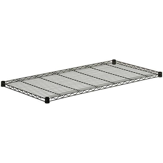 "Honey-Can-Do® 48x18"" Steel Shelf - Black"