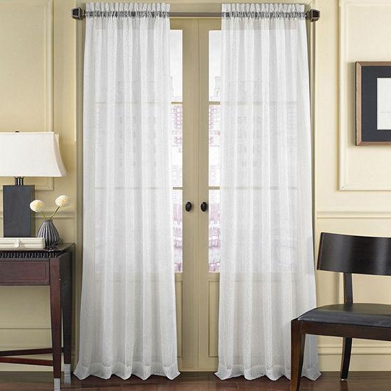 Queen Street Summit Sheer Rod-Pocket Curtain Panel