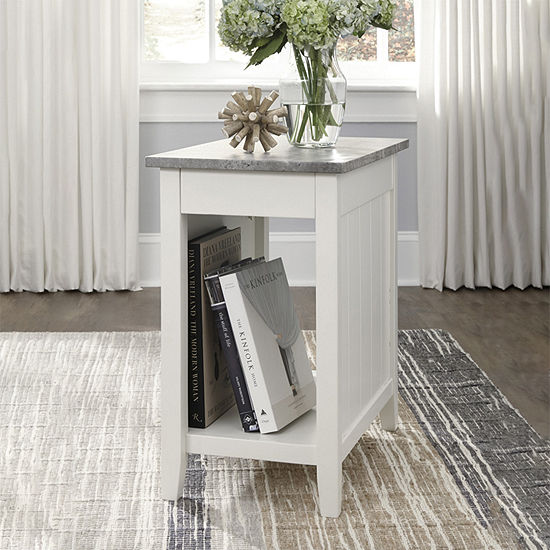 Signature Design by Ashley® Diamenton Chair Side End Table with Faux Concrete Top