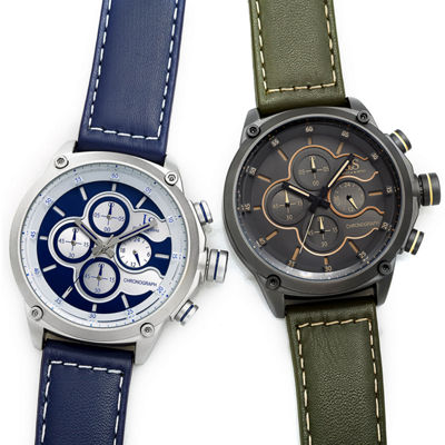 Joshua & Sons Mens Blue Strap Watch-J-133bu