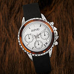 August Steiner Womens Chronograph Multi-Function Black Strap Watch-As-8268bk