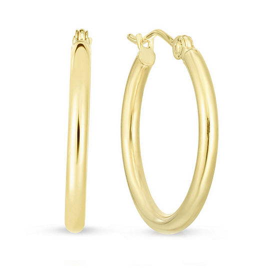 14K Gold 20.2mm Hoop Earrings