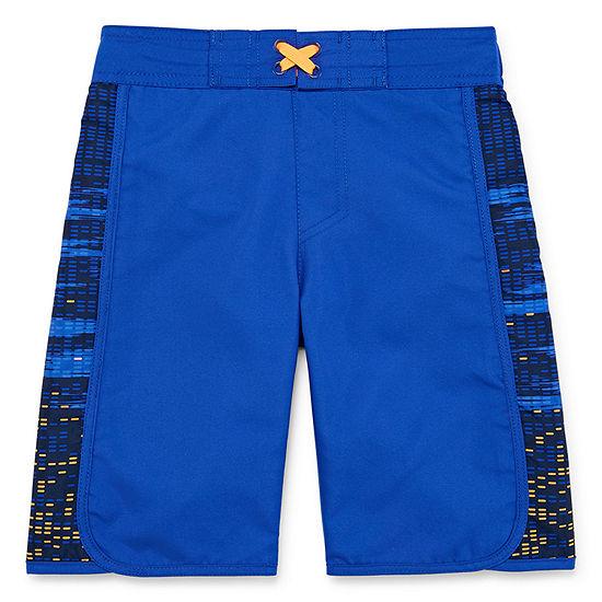 Xersion Boys Grid Swim Trunks