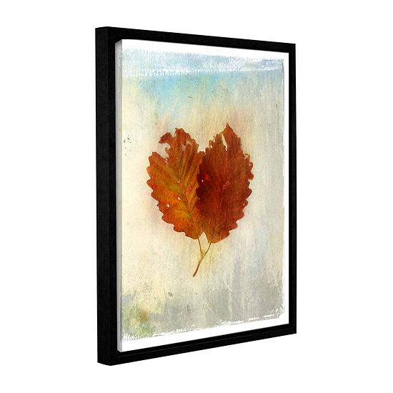 Brushstone Leaf III Gallery Wrapped Floater-Framed Canvas Wall Art