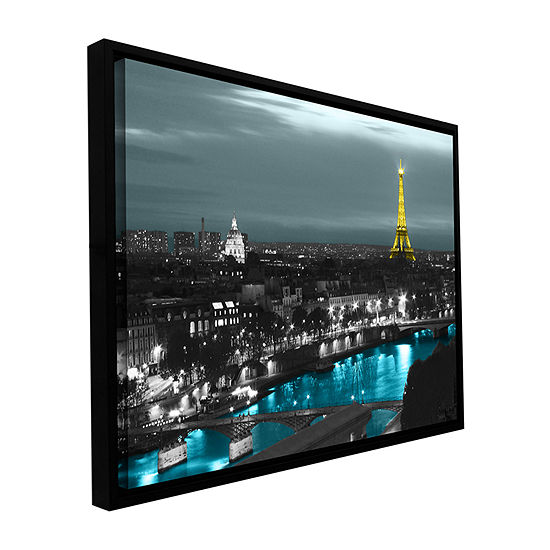 Brushstone Paris Gallery Wrapped Floater-Framed Canvas Wall Art