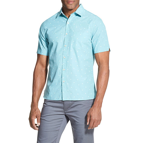 Van Heusen Mens Short Sleeve Button-Front Shirt Big and Tall