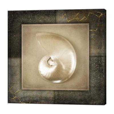 Metaverse Art Light Gold Sea Warm 2 Canvas Wall Art