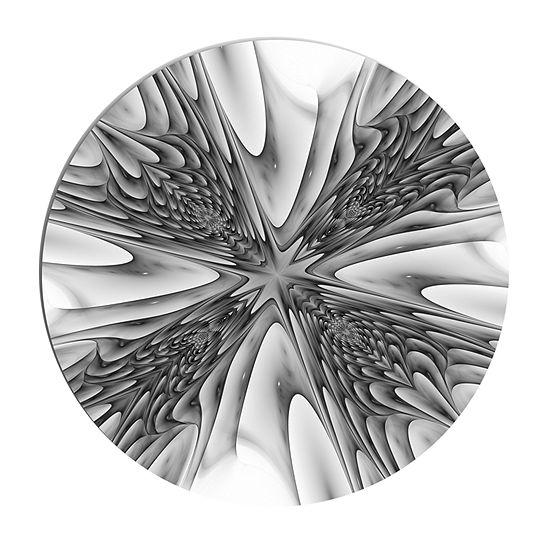 Design Art Fractal 3D Magical Depth Circle Metal Wall Art