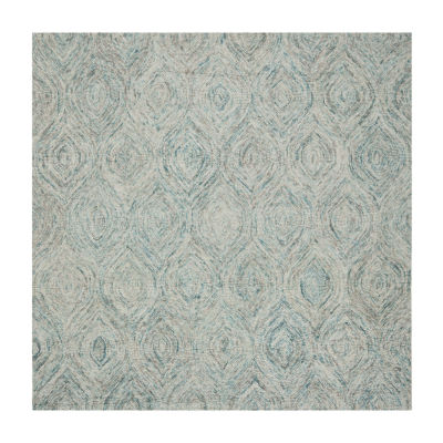 Safavieh Ikat Collection Cheshunt Geometric Square Area Rug