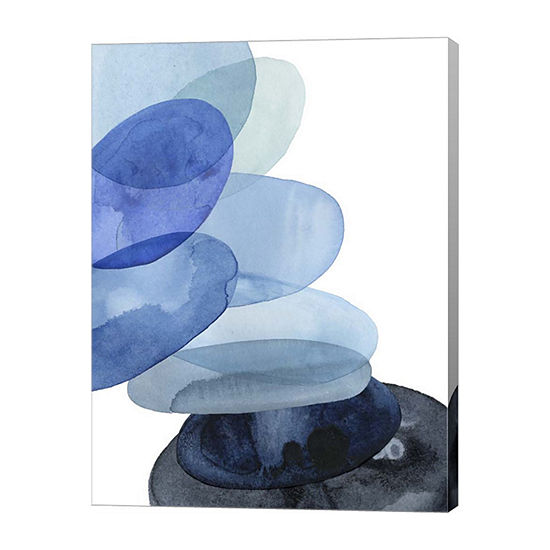 Metaverse Art River Worn Pebbles II Canvas Wall Art