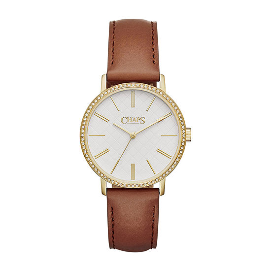 Chaps Whitney Womens Brown Strap Watch-Chp1001